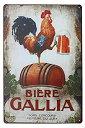 【中古】【輸入品・未使用未開封】ARTCLUB Happy Chickens Rooster and Beer Metal Plate Sign Vintage Plaque Rustic Poster Kitchen ..