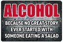 【中古】【輸入品・未使用未開封】Rogue River Tactical Funny Beer Alcohol Sign Metal Tin Sign Home Bar Kitchen No Great Story Ev..