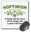 【中古】【輸入品・未使用未開封】3dRose Mouse Pad Hoptimism Funny Beer Lover Definition - 8 by 8-Inches (mp_312157_1) [並行輸入..