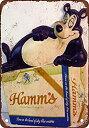 【中古】【輸入品・未使用未開封】Hamm's Beer Bear Vintage Look Reproduction Metal Tin Sign 12X18 Inches 2 [並行輸入品]