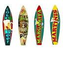 【中古】【輸入品・未使用未開封】Bundle: Surfboard Wall Art Decor Metal Drinks Beach Signs - Cold Beer Surfboard Sign Tiki Bar ..