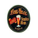 【中古】【輸入品・未使用未開封】RAM Gameroom Products Pub Sign 'Fine Beer Always Served Here' [並行輸入品]
