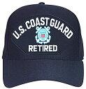 【中古】【輸入品・未使用未開封】米国沿岸警備隊Retired with Seal Baseballキャップ。海軍ブルー。Made In USA