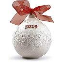 【中古】【輸入品・未使用未開封】Lladro 2019 赤磁器 クリスマスボール #8445