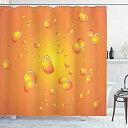 【中古】【輸入品・未使用未開封】(180cm W By 180cm L Multi 21) - Burnt Orange Decor Shower Curtain by Ambesonne Beer like Bubbl..