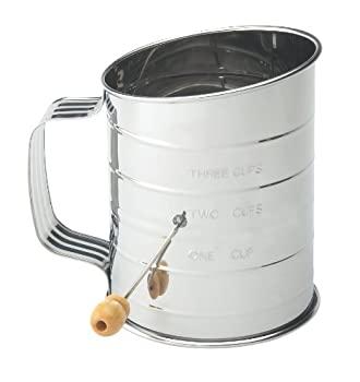 ステンレススチール 小麦粉ふるい ワイヤー攪拌機2個付き(MaMix)