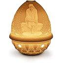 【中古】【輸入品・未使用未開封】Lladro Sai Baba Lithophane Votive