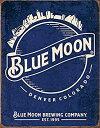 【中古】【輸入品・未使用未開封】Blue Moon Beer Skyline Metal Tin Vintage Retro Tin Sign 32cm X 41cm by Desperate Ent. in USA