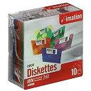 【中古】【輸入品・未使用未開封】Imation 3.5 DS-HD IBM Pcフォーマット済みディスク ネオンカラー 10枚入り メーカー生産終了品