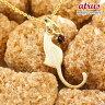 猫 ネックレス ガーネット 一粒 ペンダント イエローゴールドk10 ネコ ねこ 1月誕生石 10金 レディース チェーン 人気
