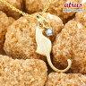 猫 ネックレス アクアマリン 一粒 ペンダント イエローゴールドk10 ネコ ねこ 3月誕生石 10金 レディース チェーン 人気