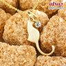 【送料無料】猫 ネックレス ダイヤモンド 一粒 ダイヤ ペンダント イエローゴールドk18 ネコ ねこ 18金 レディース チェーン 人気