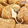 猫 ネックレス ブルートパーズ 一粒 ペンダント イエローゴールドk10 ネコ ねこ 11月誕生石 10金 レディース チェーン 人気
