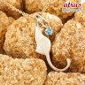 【送料無料】猫 ネックレス ブルートパーズ 一粒 ペンダント ピンクゴールドk18 ネコ ねこ 11月誕生石 18金 レディース チェーン 人気