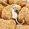 猫 ネックレス ブルーサファイア 一粒 シルバーペンダント ネコ ねこ 9月誕生石 sv レディース チェーン 人気