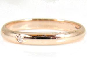 【送料無料】指輪 ペア ペアリング 一粒 ダイヤモンド ブルーダイヤモンド 結婚指輪 マリッジリング ホワイトゴールドk18 ピンクゴールドk18 ダイヤ 18金 ストレート 2.3 贈り物 誕生日プレゼント ギフト ペアリング ダイヤモンド 結婚指輪 マリッジリング