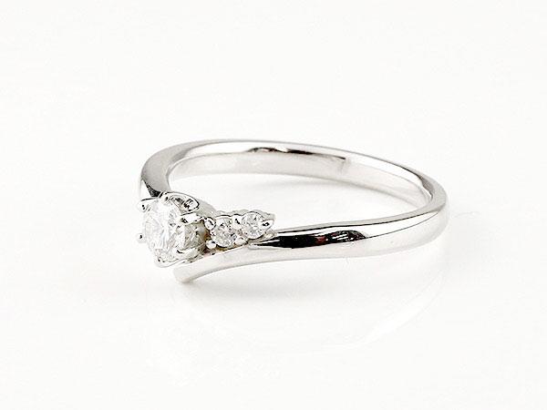 【送料無料】婚約指輪 ダイヤモンド リング ダイヤ 0.23ct 一粒 大粒 指輪 エンゲージリング ホワイトゴールドK18 18金 ストレート レディース ブライダルジュエリー ウエディング V字 贈り物 誕生日プレゼント ギフト 一生大切にしたいリングだからこそ慎重に選びたい