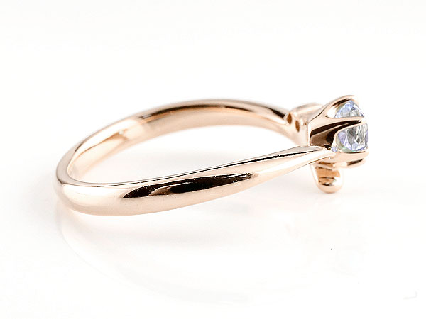 【送料無料】婚約指輪 エンゲージリング タンザナイト ピンクゴールドk10リング ダイヤモンド 指輪 ピンキーリング 一粒 大粒 k10 レディース 12月誕生石 V字 贈り物 誕生日プレゼント ギフト 気品に満ちた華やかさ 誕生石エンゲージリング 手作り