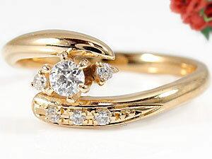 【送料無料】エンゲージリング 婚約指輪 ダイヤモンドリング 18金 ダイヤ ストレート 贈り物 誕生日プレゼント ギフト エンゲージリング婚約指輪ゴールドダイヤモンドリング手作り人気