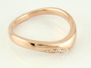 【送料無料】 V字 婚約指輪 エンゲージリング ダイヤモンド ピンクゴールドk18 18金 ダイヤモンドリング ウェーブリング ダイヤ 贈り物 誕生日プレゼント ギフト エンゲージリング婚約指輪ゴールドダイヤモンドリング手作り人気