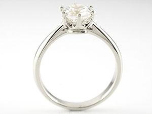 【送料無料】婚約指輪 エンゲージリング プラチナ ダイヤモンド ソリティア 一粒 大粒 ダイヤモンドリング ダイヤ ストレート 贈り物 誕生日プレゼント ギフト エンゲージリング婚約指輪プラチナダイヤモンドリング手作り人気