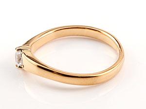 【送料無料】エンゲージリング 婚約指輪 一粒ダイヤモンド リング ダイヤ 大粒 指輪 ダイヤモンドリング ピンクゴールドk18 18金 ストレート レディース ブライダルジュエリー ウエディング 贈り物 誕生日プレゼント ギフト 美しい煌めき 一粒ダイヤモンドのしっかりとした存在感