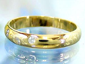 【送料無料】ダイヤモンド リング イエローゴールドK18 婚約指輪 エンゲージリング ダイヤモンド 0.13ct 指輪 18金 ダイヤモンドリング ダイヤ ストレート 贈り物 誕生日プレゼント ギフト エンゲージリング婚約指輪ゴールドダイヤモンドリング手作り人気