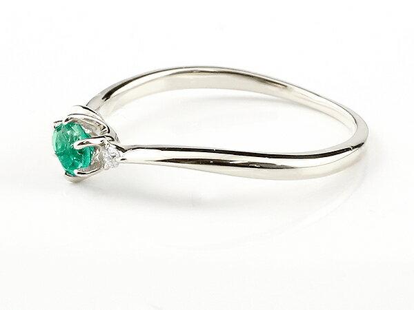 【送料無料】エンゲージリング イニシャル ネーム A 婚約指輪 エメラルド ダイヤモンド シルバー 指輪 アルファベット レディース ピンキーリング 5月誕生石 人気 貴方だけの宝物を身に着ける喜びを…
