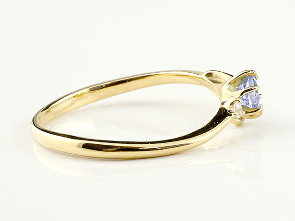 【送料無料】ピンキーリング エンゲージリング イニシャル ネーム F 婚約指輪 タンザナイト ダイヤモンド イエローゴールドk18 指輪 アルファベット 18金 レディース 12月誕生石 人気 貴方だけの宝物を身に着ける喜びを…