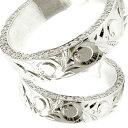 結婚指輪 ハワイアンペアリング ダイヤモンドマリッジリング シルバー ダイヤ ストレート カップル 贈り物 誕生日プレゼント ギフト ファッション