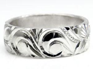 【送料無料】ハワイアンペアリング 人気 結婚指輪 シルバー925 sv925 ハワイアンジュエリー2本セット 地金リング ストレート カップル 贈り物 誕生日プレゼント ギフト 結婚指輪 ペアリングハワイアン 手彫り マリッジリング 人気