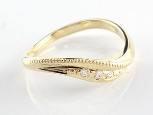 【送料無料】ハワイアンジュエリー ペアリング 人気 ダイヤモンド 結婚指輪 マリッジリング イエローゴールドk18 18金 k18yg ダイヤ ストレート カップル 贈り物 誕生日プレゼント ギフト 結婚指輪 ペアリングハワイアン 手彫り マリッジリング 人気