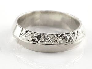 ハワイアン ペアリング 人気 結婚指輪 シルバー 幅広 葉 波 地金リング sv925 ストレート カップル 贈り物 誕生日プレゼント ギフト 結婚指輪 ペアリングハワイアン 手彫り マリッジリング 人気
