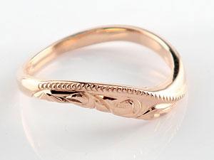 ハワイアン ペアリング 人気 結婚指輪 ミル打ち ピンクゴールドk18 地金リング 18金 k18pg ウェーブリング ストレート カップル 贈り物 誕生日プレゼント ギフト 結婚指輪 ペアリングハワイアン 手彫り マリッジリング 人気