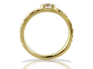 ハワイアンジュエリー ペアリング 人気 ダイヤモンド 結婚指輪 マリッジリング イエローゴールドk18 一粒 大粒 18金 k18yg ダイヤ ストレート カップル 贈り物 誕生日プレゼント ギフト ハワイアンジュエリー ペアリング ダイヤモンド 結婚指輪