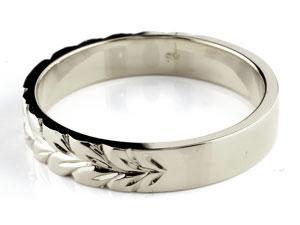 【送料無料】ハワイアンジュエリー ペアリング プラチナ クロス ブラックダイヤモンド ダイヤ 結婚指輪 マリッジリング ストレート カップル 贈り物 誕生日プレゼント ギフト 結婚指輪 ペアリングハワイアン 手彫り マリッジリング 人気