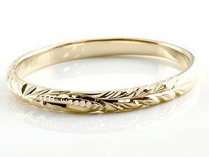 【送料無料】結婚指輪 ハワイアンペアリング 人気 ホワイトゴールドk18 イエローゴールドk18 k182本セット 地金リング 18金 k18wg k18yg ストレート カップル2.3 贈り物 誕生日プレゼント ギフト 結婚指輪 ペアリングハワイアン 手彫り マリッジリング 人気