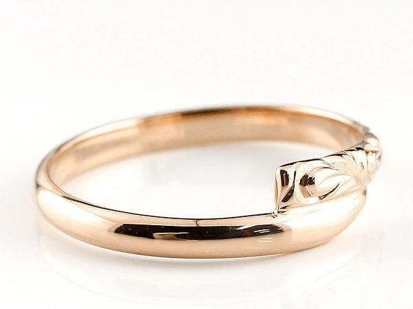 【送料無料】ハワイアンジュエリー ペアリング 結婚指輪 マリッジリング プラチナ ピンクゴールドk18 ハワイアンリング スパイラル 地金 pt900 カップル 贈り物 誕生日プレゼント ギフト 永遠に輝き続ける深彫りのハワイアンジュエリー