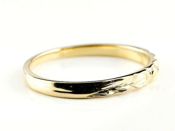 【送料無料】ハワイアンジュエリー ペアリング 結婚指輪 マリッジリング ホワイトゴールドk10 イエローゴールドk10 ハワイアンリング ストレート 地金 k10 カップル 贈り物 誕生日プレゼント ギフト 永遠に輝き続ける深彫りのハワイアンジュエリー