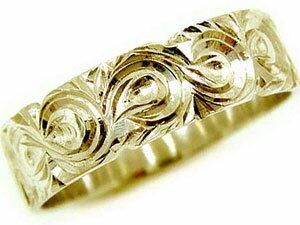 【送料無料】ハワイアンジュエリー ペアリング 人気 結婚指輪 ホワイトゴールドk18 イエローゴールドk18 地金リング 18金 k18wg k18yg ストレート カップル 贈り物 誕生日プレゼント ギフト 結婚指輪 ペアリングハワイアン 手彫り マリッジリング 人気