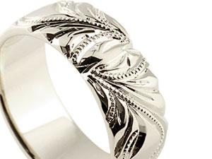 【送料無料】ハワイアンジュエリー リング 幅広 指輪  ハワイアンリング シルバー 地金リング ミル打ち レディース ストレート 贈り物 誕生日プレゼント ギフト ワンランク上のおシャレに取り入れたいハワイアンリング 手彫り有効