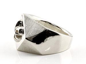 メンズ 印台リング 幅広 指輪 ユリの紋章 ピンキーリング ホワイトゴールドk18 18金ストレート 男性用 贈り物 誕生日プレゼント ギフト メンズジュエリー 印台リング 一本で十分に存在感をアピール【快適に感じます】