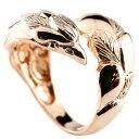 ショッピングピンキーリング フェザー 羽 メンズ イーグル リング ピンクゴールドk10 鷹 フェザー 幅広 指輪 フリーサイズ ピンキーリング 地金 10金 男性用 贈り物 誕生日プレゼント ギフト エンゲージリングのお返し 送料無料