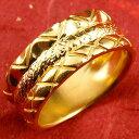 【送料無料】 純金 メンズ リング 指輪 幅広 k24 24金 ピンキーリング 重ね付けデザイン 男性用 贈り物 誕生日プレゼント ギフト