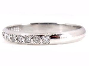 【送料無料】甲丸 ペアリング ダイヤモンド 結婚指輪 マリッジリング ホワイトゴールドk18 ハーフエタニティ 一粒 結婚式 18金 ダイヤ ストレート カップル 2.3 贈り物 誕生日プレゼント ギフト 結婚指輪 ゴールド 指輪 リング マリッジ リング 結婚
