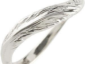 【送料無料】V字 ペアリング 結婚指輪 マリッジリング キュービックジルコニア フェザー シルバー ウェーブリング カップル 贈り物 誕生日プレゼント ギフト V字 ペアリング 結婚指輪 マリッジリング キュービック