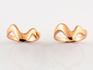 【送料無料】 ペアリング 結婚指輪 マリッジリング ピンクゴールドk18 V字 結婚式 18金 ウェーブリング カップル ブライダルジュエリー ウエディング 贈り物 誕生日プレゼント ギフト ペアリング 結婚指輪 マリッジリング ピンクゴールドk18 V字