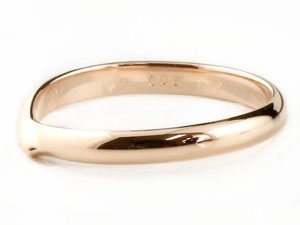 【送料無料】ペアリング ダイヤモンド ピンクゴールドk18 結婚指輪 マリッジリング 甲丸 結婚式 18金 ダイヤ カップル 2.3 贈り物 誕生日プレゼント ギフト 結婚指輪 ゴールド 指輪 リング マリッジ リング 結婚