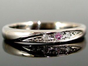 【送料無料】ペアリング 結婚指輪 マリッジリング ダイヤモンド ピンクサファイア プラチナ 結婚式 ダイヤ ストレート カップルブライダルジュエリー ウエディング 贈り物 誕生日プレゼント ギフト 結婚指輪 プラチナ 指輪 リング マリッジ リング 結婚