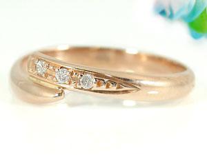 【送料無料】ペアリング 指輪 ダイヤモンド 結婚指輪 マリッジリング ピンクゴールドk10 10金 ダイヤ ストレート カップル 2.3 贈り物 誕生日プレゼント ギフト 価格が安いk10 人気のレディース 手作り 天然宝石 工房直販